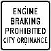ENGINE BRAKING PROHIBITED